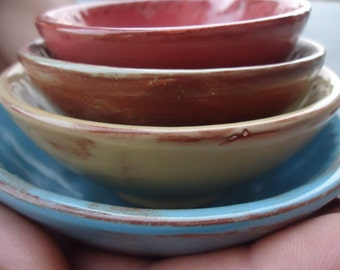 Antique Shades Glazed Measuring Cups