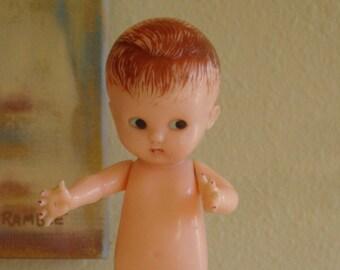 """Vintage '50s Baby Rattle//Boy// Knickerbocker Plastic Co.// 6"""""""