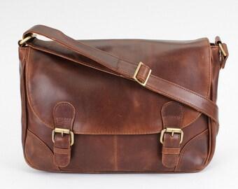 Leather Satchel /Messenger Bag /Handbag /Shoulderbag /Brown