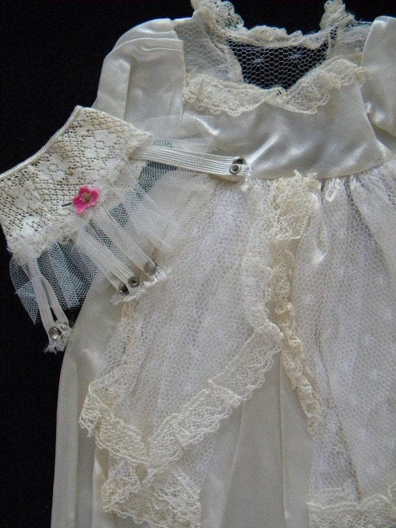 vintage large doll wedding dress garter belt and wedding ring