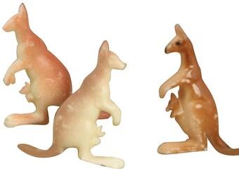 Vintage Little Kangaroos miniature kangaroo vintage kangaroo diorama dollhouse craft project - IV3-2437