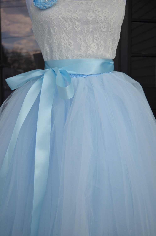 Blue plus size wedding dress