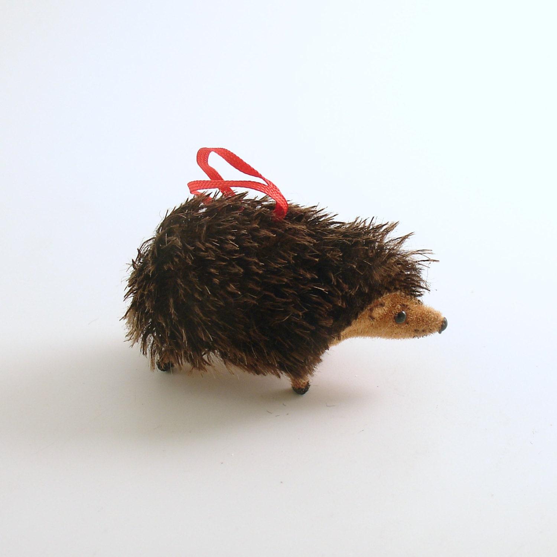 Vintage Hedgehog Christmas Ornament Wagner Kunstlerschutz West