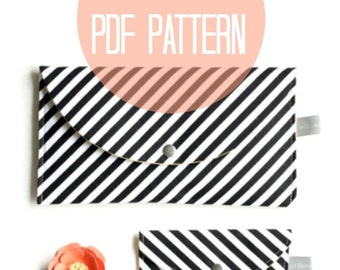 Business Card Case and Wallet Clutch SEWING Pattern, Instant PDF Download