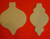 """Unfinished Ornament Door Signs Mosaic Bases 15"""" Tall Wall Decor"""
