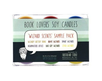 WIZARD SCENTS -- Tea Light Sample Pack -- Book Lovers' Scented Soy Candles