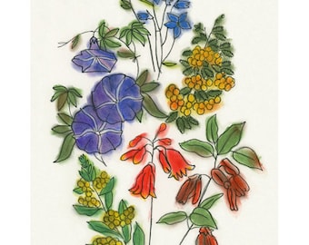 "Australian Native Flowers Art print - 4 for 3 SALE 4"" X 6"" print"