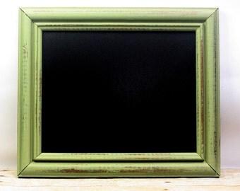 Kitchen Chalkboard Frame Sign 8x10 Frame Photography Prop Celery Green