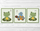 Cute Frog Nursery Wall Ar...