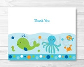 Blue Under The Sea Folded...