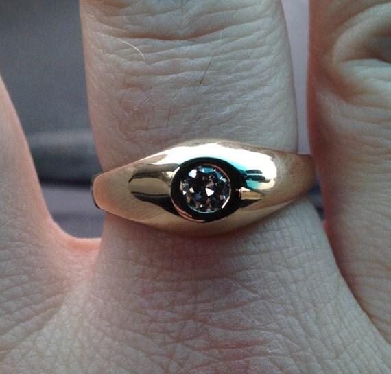 14 KT Gold Diamond Ring - Husband Gift