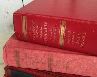 Vintage Amy Vanderbuilt Complete Book of Ettiquette - with Letitia Baldrige
