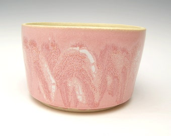 Ceramic planter Succulent planter Cactus planter pot Stoneware planter Herb plant pot Pink White planter discount  6 x 3 1/2 V7