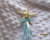 Flower Girl  Knobby Starfish Wand  Any Color Ribbon