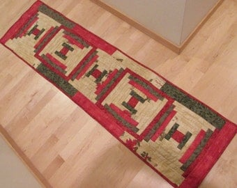 Christmas Cabin Tablerunner - reduced