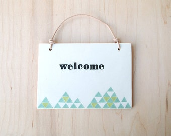 welcome plaque : 20% off SALE