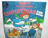 Vintage Raggedy Ann & Andy Christmas Fun Book and Record Children's See Hear Read