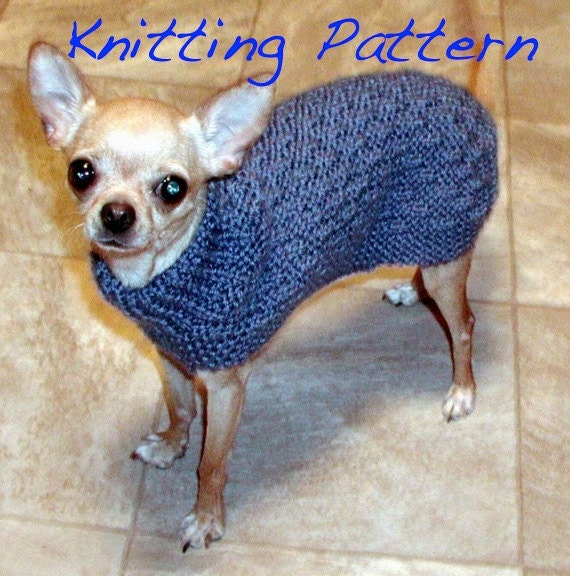 Knitting Pattern For Teacup Dog : Immediate Download PDF Knitting Pattern Basketweave Dog