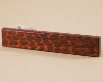 Tie Clip: South American Snakewood Tie Bar Tie Tack