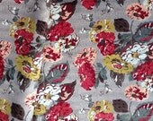 3977 - Cath Kidston Autumn Bloom (Light Brown) Oilcloth Waterproof Fabric - 28 Inch (Width) x 17 Inch (Length)