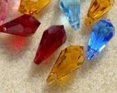 Lot 16  #6000 Swarovski Crystal Teardrop Pendants Beads Jewelry Supplies Accessories