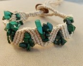 Malachite Hemp Bracelet - Hemp Macramé Jewelry