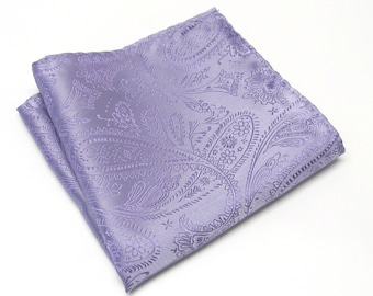 Pocket Square Lavender Paisley Hankie