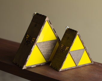Zelda Triforce Lamp MINI - HYRULE LOGO