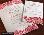 Naija Letterpress or Digital Wedding Invitations - Set of 100