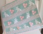 Crochet Pattern - Bunny Baby Blanket - Digital Download