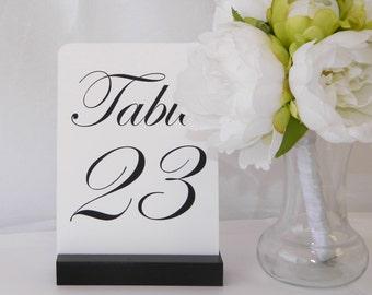 Table Number Holder + Black Table Number Holder (5 inch) - (Set of 10)