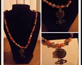 "25"" Brass Pendant Necklace"