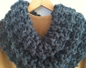 Outlander Inspired Cowl-Graphite Grey Color