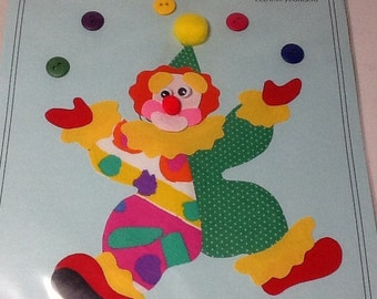 Applique Clown Ready to Iron On with Directions