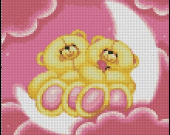 Bears cross stitch pattern No.773