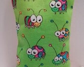 Beetles Fabric Flaxseed Rice Bag for Applying Nail Wraps 2x4 Heat in Microwave Hand Warmers