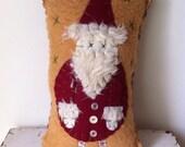 Vintage Style Santa Pillow