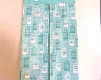 Love Bird Cage Teal/MInt/Turquoise Diaper Stacker