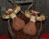 EPATTERN -- Primitive Christmas Moose Tucks Ornies Bowl Fillers