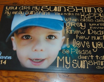 """You Are My SUNSHINE- Personalized PHoTO Giclee MoUNTED prints- custom made to order- 11"""" x 17"""""""