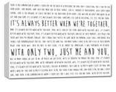 Gift for wife or hubby Word Art Canvas memories phrases on canvas GREAT milestone birthday gift 24X36