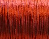 Rust Satin Rattail Cord 1mm 6 yards for Macrame Kumihimo Knotting