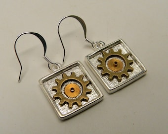 Steampunk earrings.