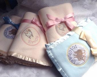 PERSONALIZED FLEECE baby blanket