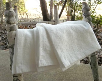 3 Linen Towels READY to SHIP Handmade Linen Towels Linen Tea Towels French Country Linen Napkins Vintage Tablecloth French Country Farmhouse