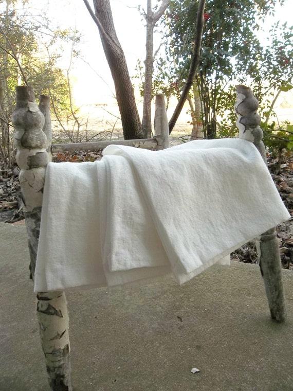3 Linen Towels Handmade Linen Napkins Oversized Custom Fabrics Linen Tea Towels  French Country Farmhouse 16 x 19