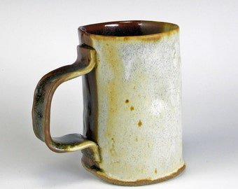 Cream And Brown Textured Mug