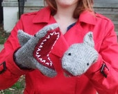 Shark Mittens for Alexander F.