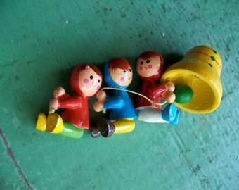 little wooden elves and bell