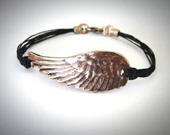 Angel Wing bracelet Flight Bird Wing Bronze Angel Wing Copper Rose Bronze